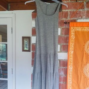 Light Grey Cotton soft and comfy Maxi Dress